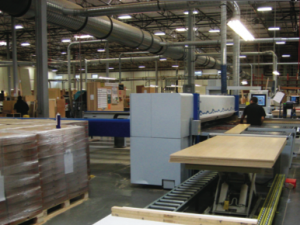 Pacific Crest cabinet factory in operation.